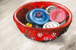 Button Bowl by lill-chan