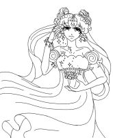 CSW - Princess Serenity Inked by Wildnature03