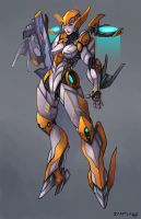 mech chick by Pertheseus