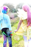 Fluttershy and Rainbow Dash: Illumination by Awesome-Vivi