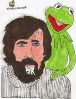 Jim Henson and Kermit Apple ad by JamestheRedEngine91