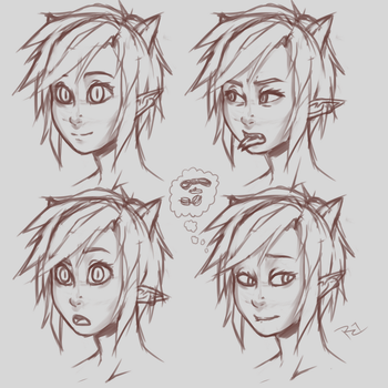 Jade Expressions Practice by RocatArt