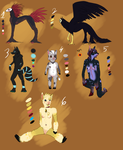 Mix Adoptables -Open- by creative-adoptions