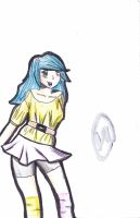 Random blue hair girl by Flote-Love