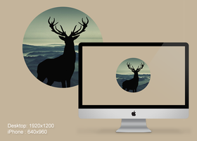 Deer Wallpaper for PC and iPhone by PaulDoK