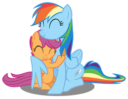 Scoot and Dash Hug by Slyde55