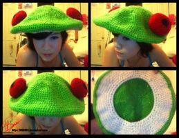 Crochet Breloom hat by LilliM00