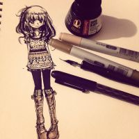 ink doodle. by pinaizee
