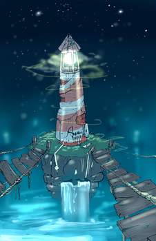 lighthouse. by PINEAPPLE-JELLY