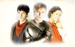 WP - Merlin, Arthur, Gwen by Nikky81