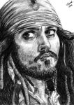 Captain Jack Sparrow by taliasparkle