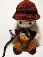 Indiana Jones Crochet Doll by Nissie