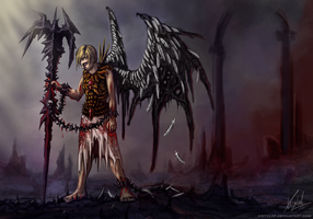 Fallen Angel of the Broken Death Gate by Kritzlof