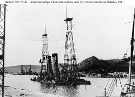 Greek BB's Kilkis and Lemnos Sunk by German bomers by StephenBarlow