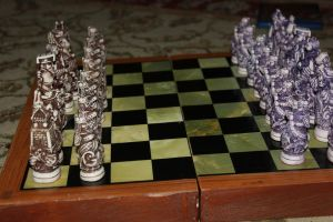 My awesome chess set by Fawnthenico