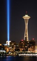 Space Needle and Skybeam by Bspacewiz2