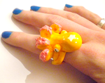 Citrus Orange Octo Ring by papersouls