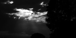 Crepuscular Rays Black and White by markeverard