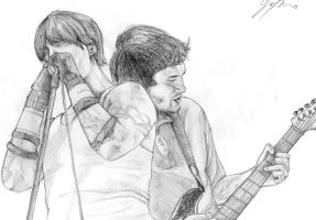 Kiedis and Frusciante by DarklyDreamingDeb