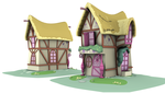 Ponyville Model - Pink_B (Game/Animation) by discopears