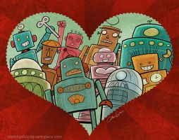 Robot Love by CatherineSatrun
