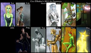 2013 Art Summary by Cra-ZShaker