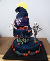 Jack Skellington cake by kreativekortney