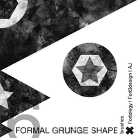 6Grunge Shape PS Brushes by Fortelegy
