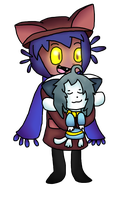 Niko and Temmie by Bouncerr