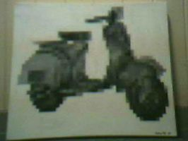 pixelation of a Vespa by Forest-Creature