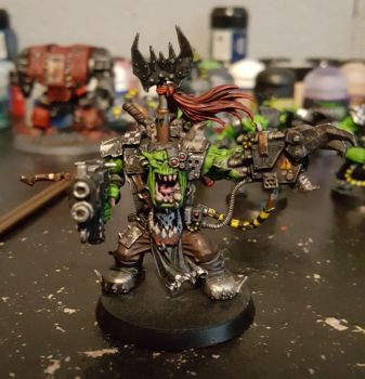 wip ork warboss by evldemon