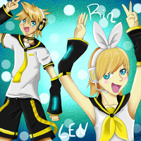 Rin and Len by Anchoring-Dreams