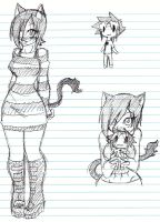 kitty girl sketches by Ruxikah
