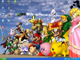 my melee desktop by Peach3000