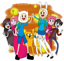 Adventure Time Print by Cat-Trouble