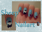 Sheep Nail art by xRixt