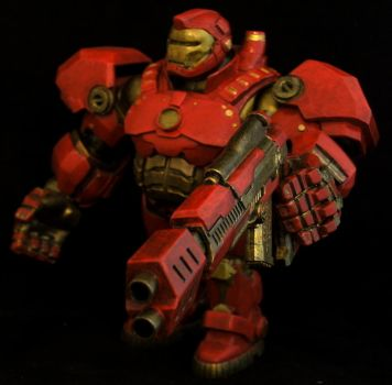 Wreck-It Ralph Buster Iron Man Custom Action Figur by RedRebelCustoms