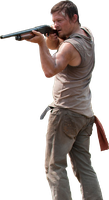 Daryl Dixon with shotgun by NorCalZombie
