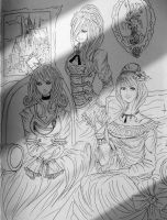 Juvia, Erza and Lucy line by BarsOrigami