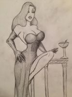 Jessica Rabbit sketch by Medusa1893