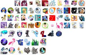 Pony Icons Pack 1 by RainxChaser