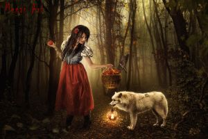 Red riding hood and a not bad wolf by megan7