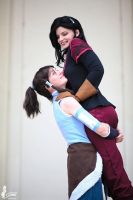 Korra and Asami by SilverGrayDash