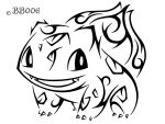 #001: Tribal Bulbasaur (Remake) by blackbutterfly006