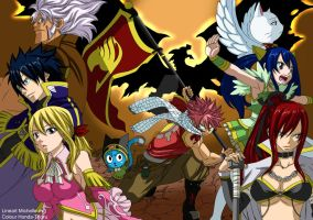 Fairy tail chapter cover 279 team -colour-. by Honda-Thoru