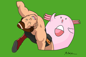 Giovanni and Chansey. by ImJohnny