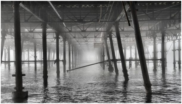under the pier by Tiger--photography
