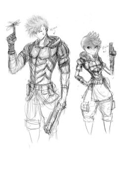 Roleplay Combat Outfits (ROUGH) by NinKuma