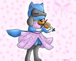 Riolita playing violin by Riolu4aural