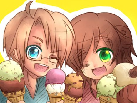 Hetalia  Ice Cream! by Butterfingas